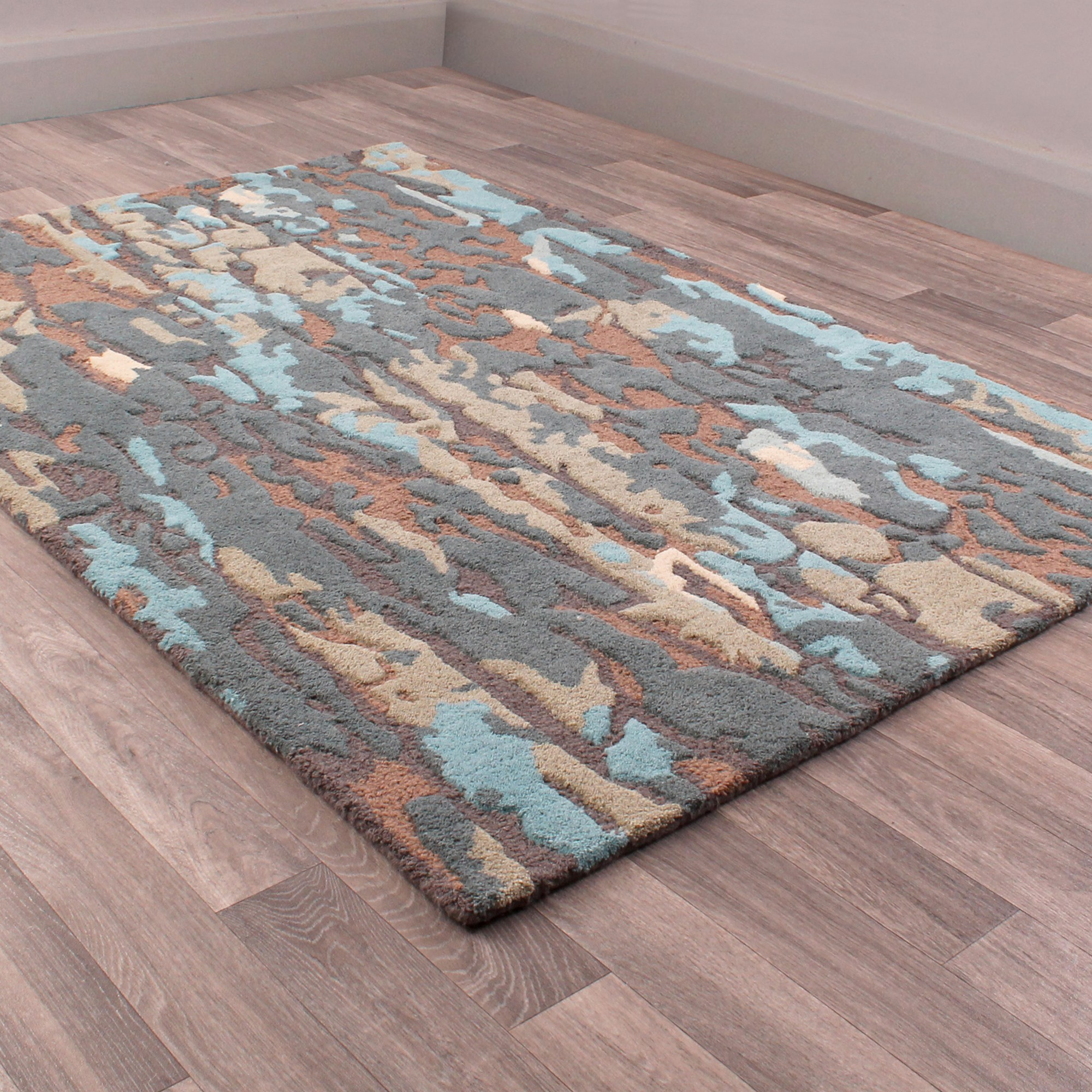 Fusion Atlantic Rugs in Beige and Blue