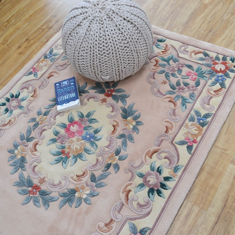 Aubusson Superwash Wool Rugs In Pink Buy Online From The