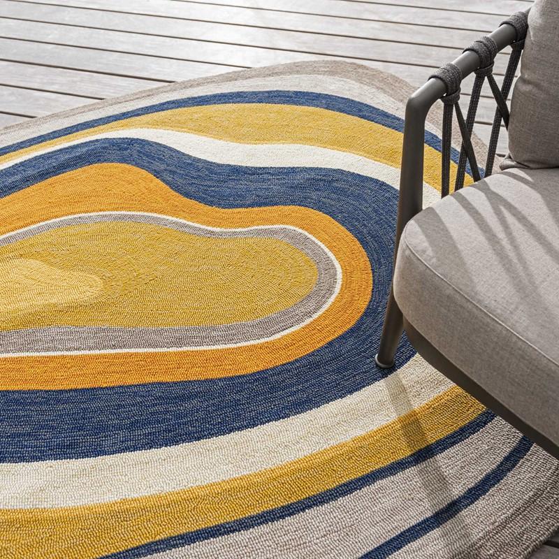 Habitat Aura Outdoor Abstract Shape Rugs Ochre 477306 Buy Online From The Rug Seller Uk