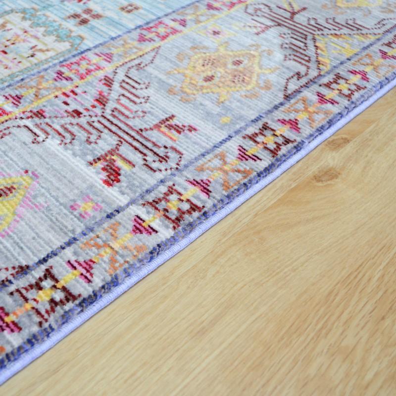 Aqua Silk Multi-Coloured Traditional Rugs B044d Buy Online