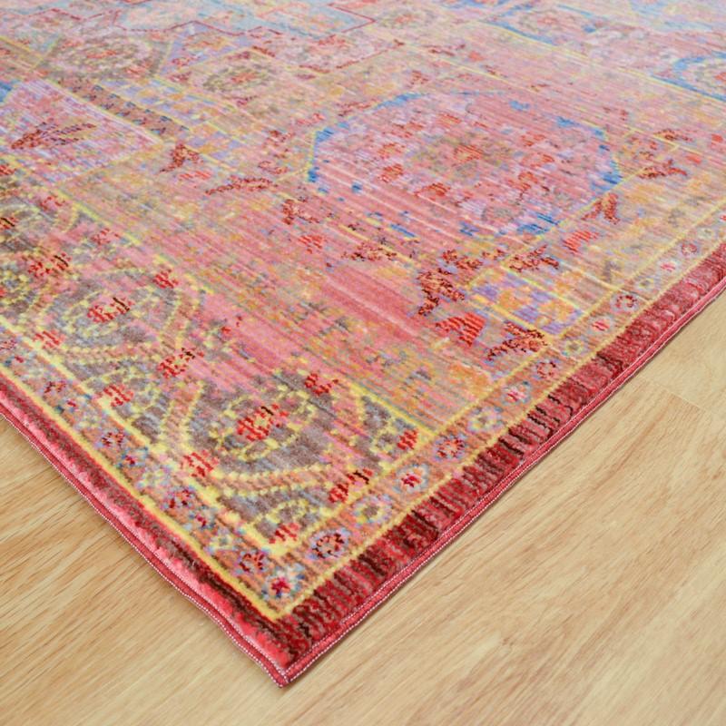 Aqua Silk Traditional Multi-Coloured Rugs B207c Buy Online