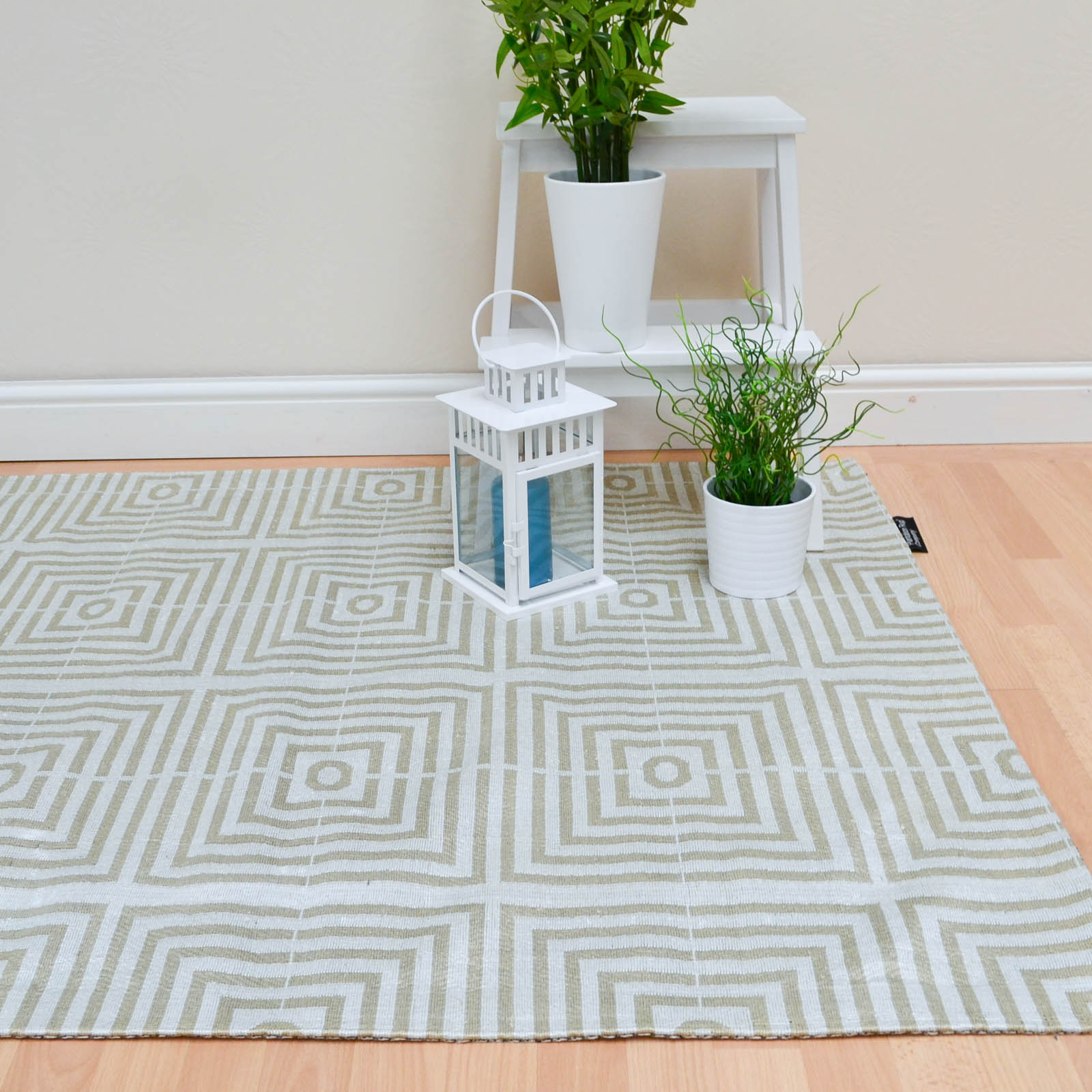 Be Square Rugs BES03 Beige