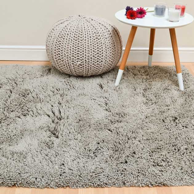 Beauticious Shaggy Rugs BEU02 in Beige
