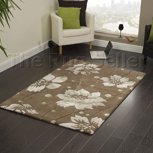 Elements BM02 Brown Indian Wool Rug Buy Online From The