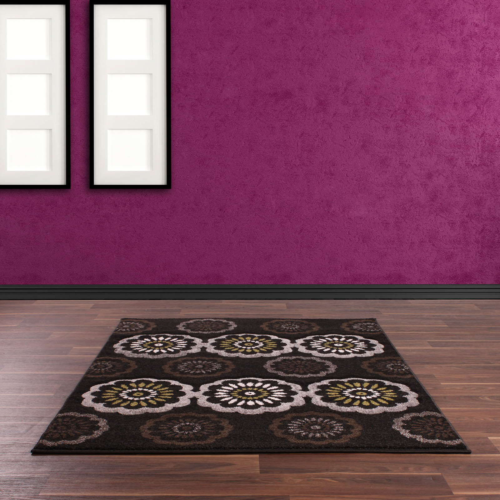 Bali Rugs 075 in Anthracite