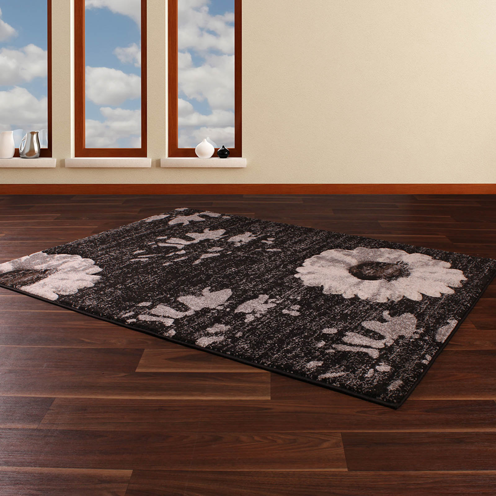 Bali Rugs 877 in Anthracite