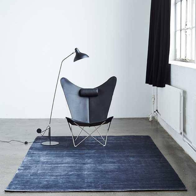 Bamboo Rugs in Steelblack by Massimo