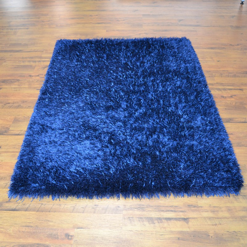 Lounge Collection Beat Shaggy Rugs 10 Midnight Blue Buy