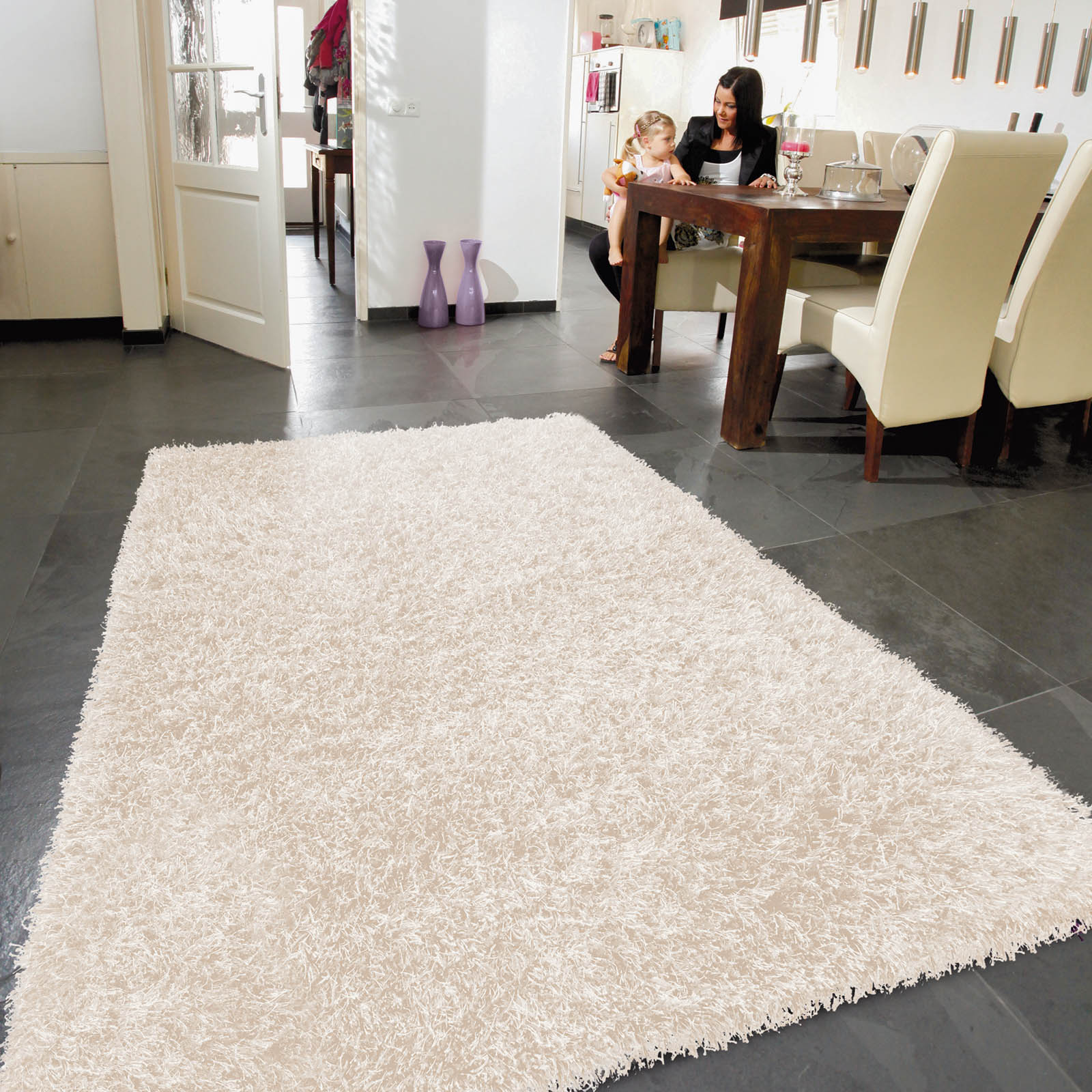 Lounge Collection Beat Shaggy Rugs Ivory 22