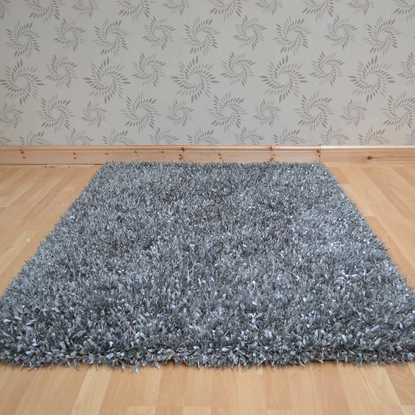 Blanche Shaggy Rugs in Grey 23