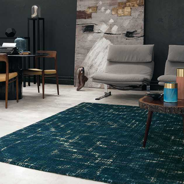 Bloome Rugs 58507 in Teal by Ted Baker