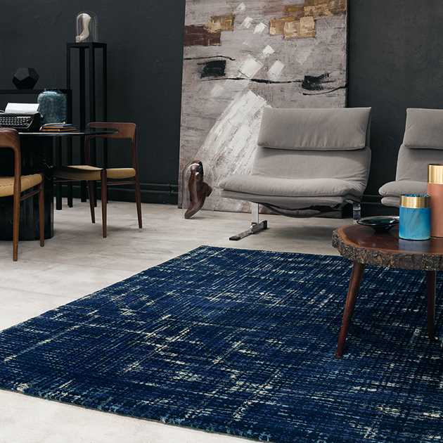 Bloome Rugs 58508 in Navy by Ted Baker