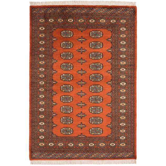 Bokhara Rugs in Rust