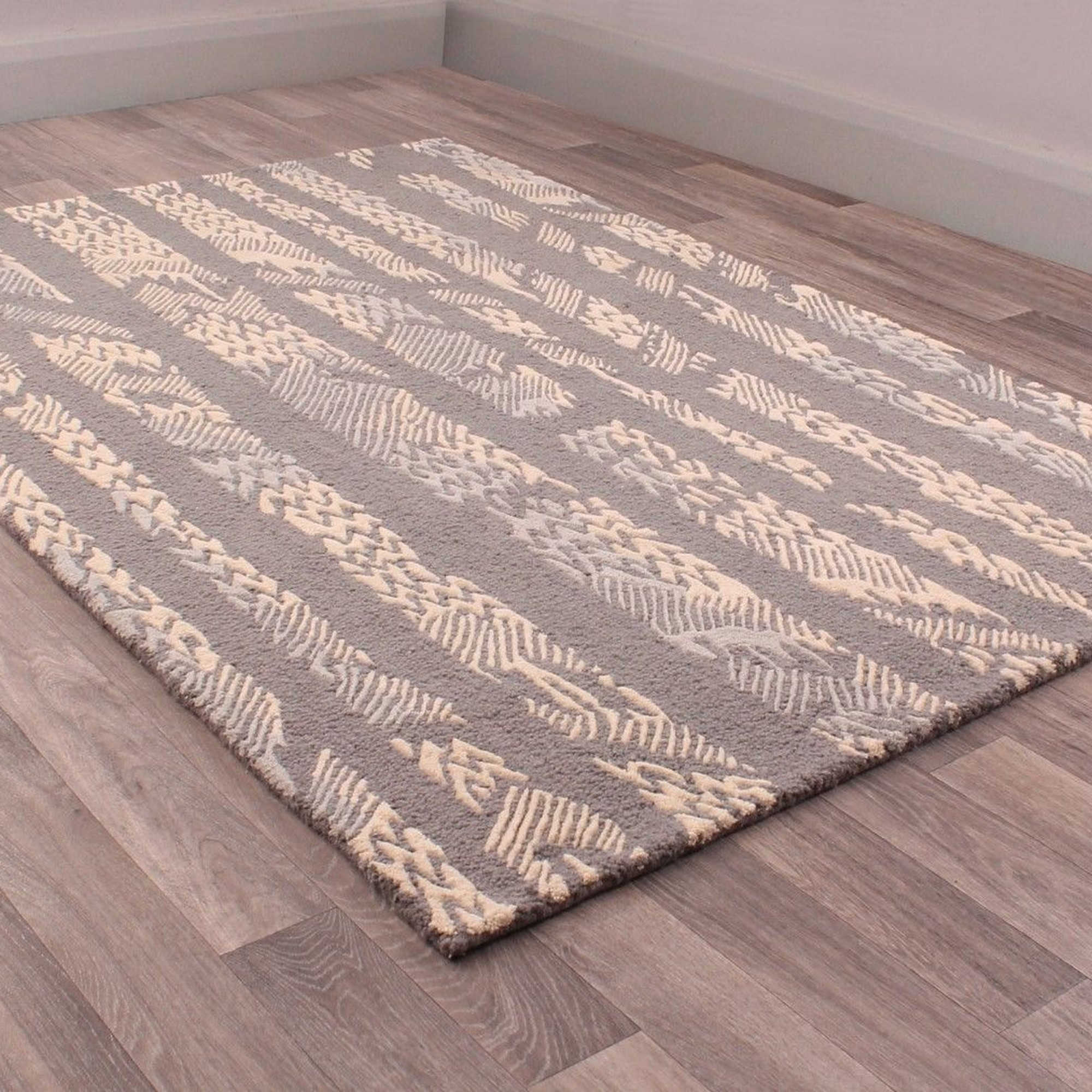 Fusion Bondi Rugs in Brown and Beige
