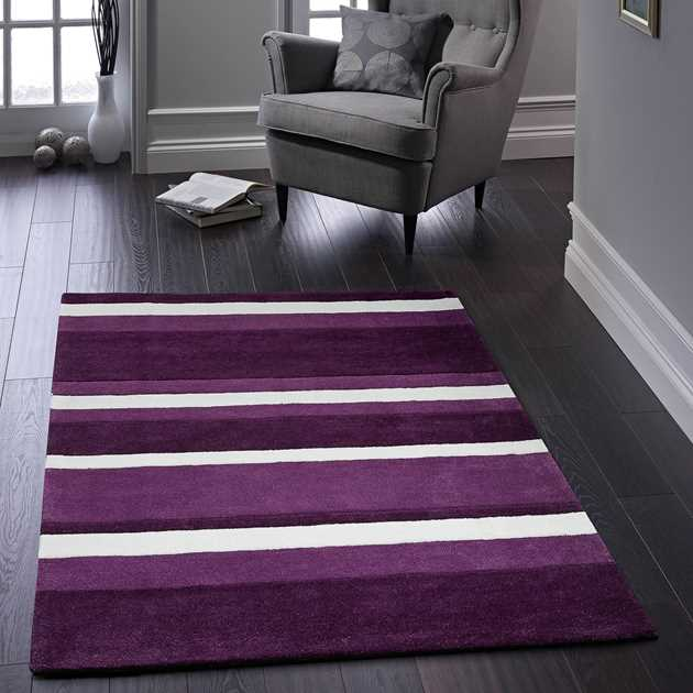 Boston Stripe Rugs in Purple