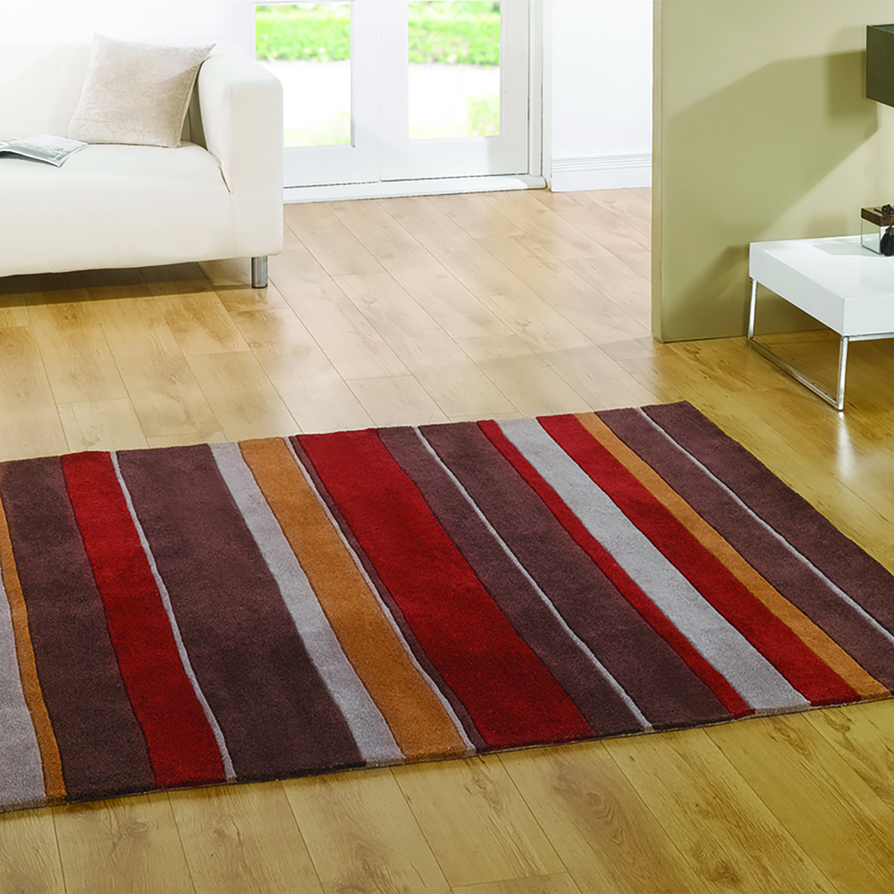 Henden Boulevard Rugs Brown Red