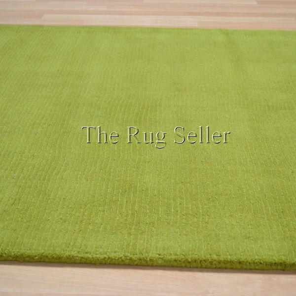 Brighton Plain Lime Green Wool Rugs Buy Online From The
