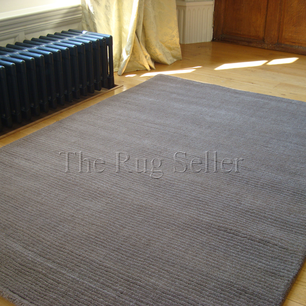 Amazing Brighton Plain Taupe Wool Rugs