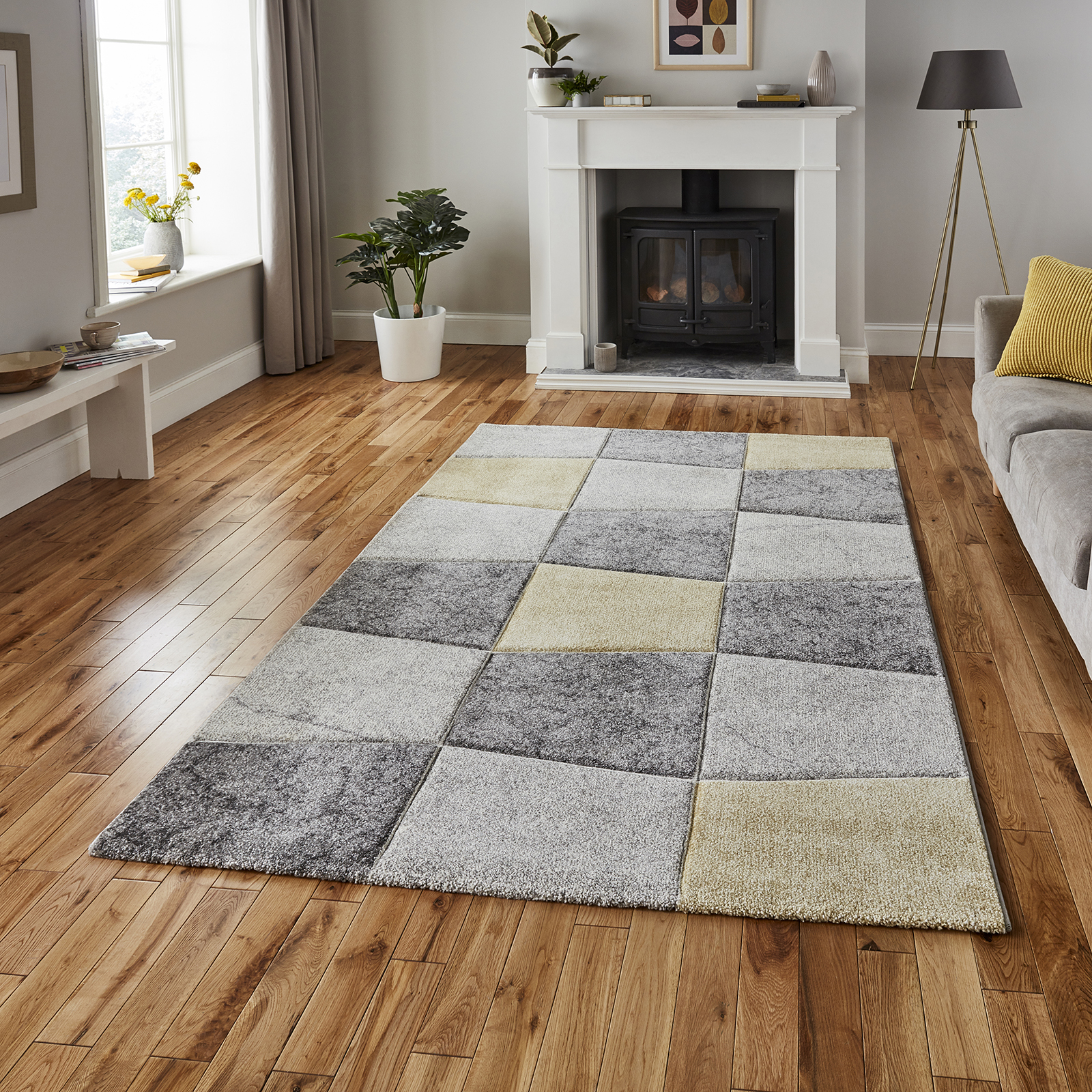 Brooklyn 22192 Rugs in Grey Green buy online from the rug ...