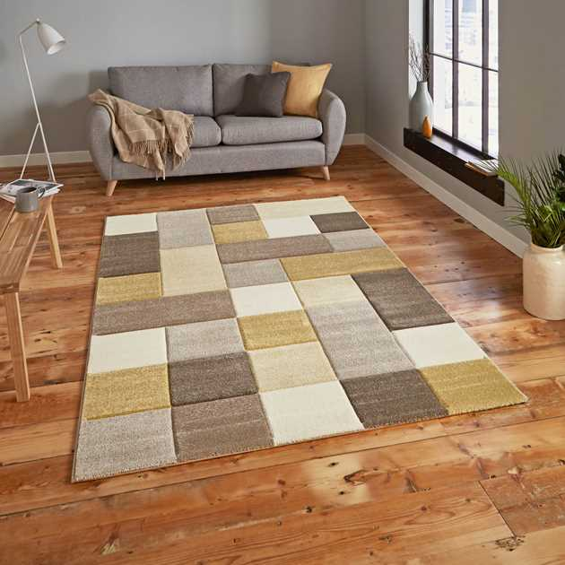 Brooklyn Rugs 646 in Beige and Yellow