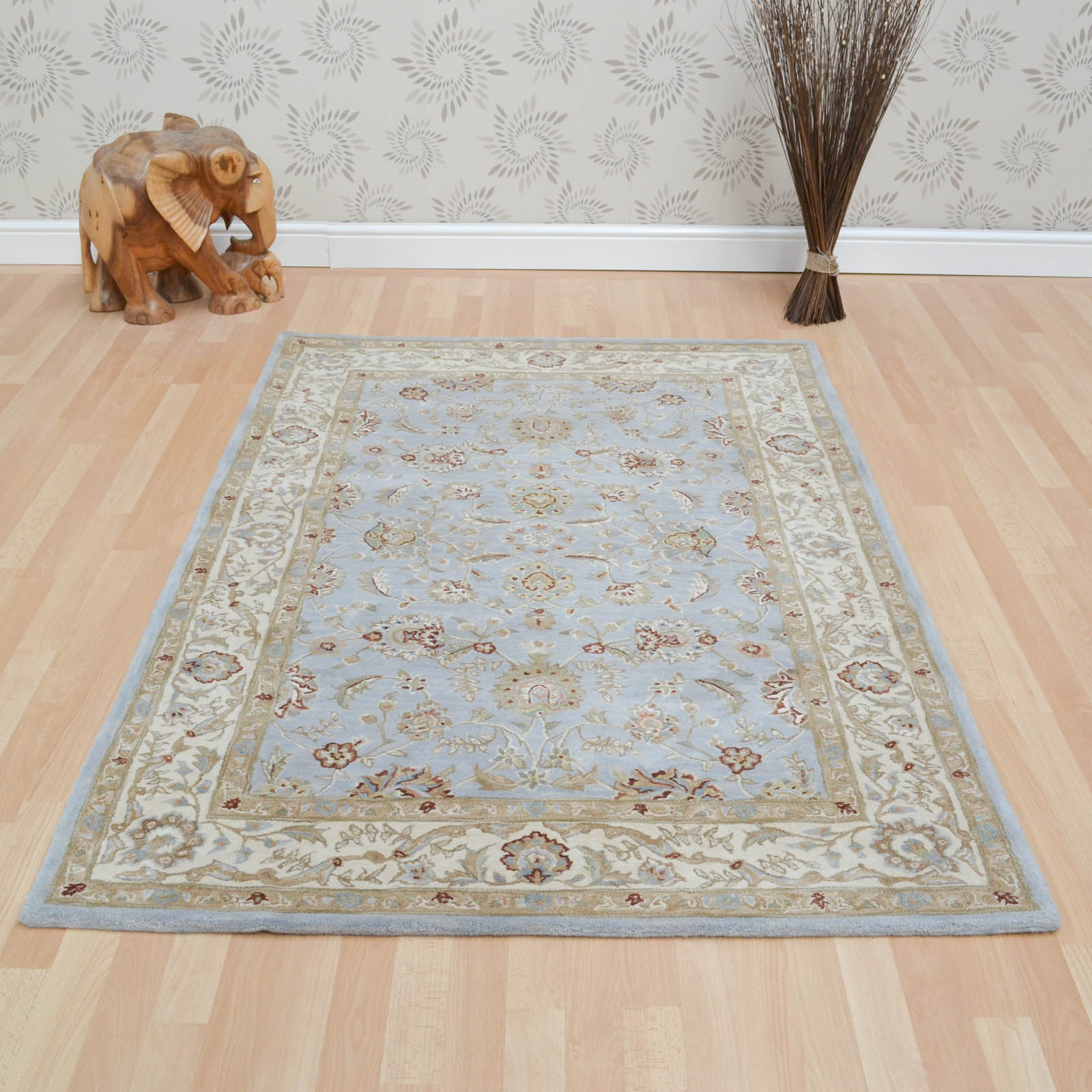 Buckingham Ziegler Rugs in Blue