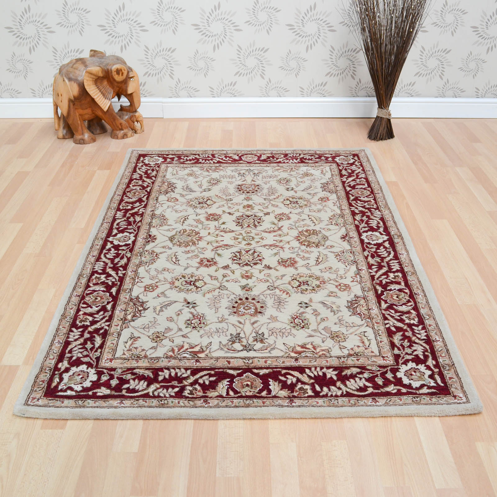 Buckingham Ziegler Rugs in Gold Red