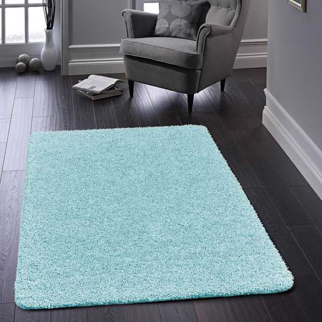 Buddy Washable Rugs in Baby Blue