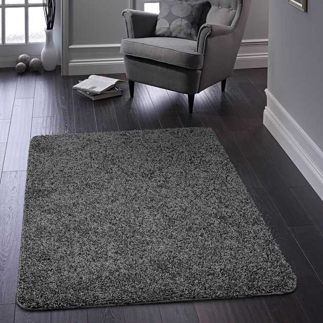 Buddy Washable Rugs in Charcoal