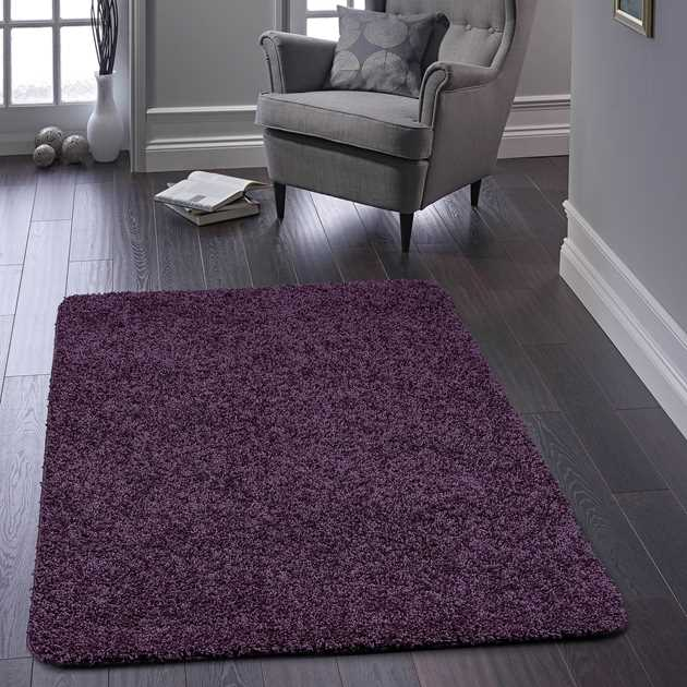 Buddy Washable Rugs in Purple