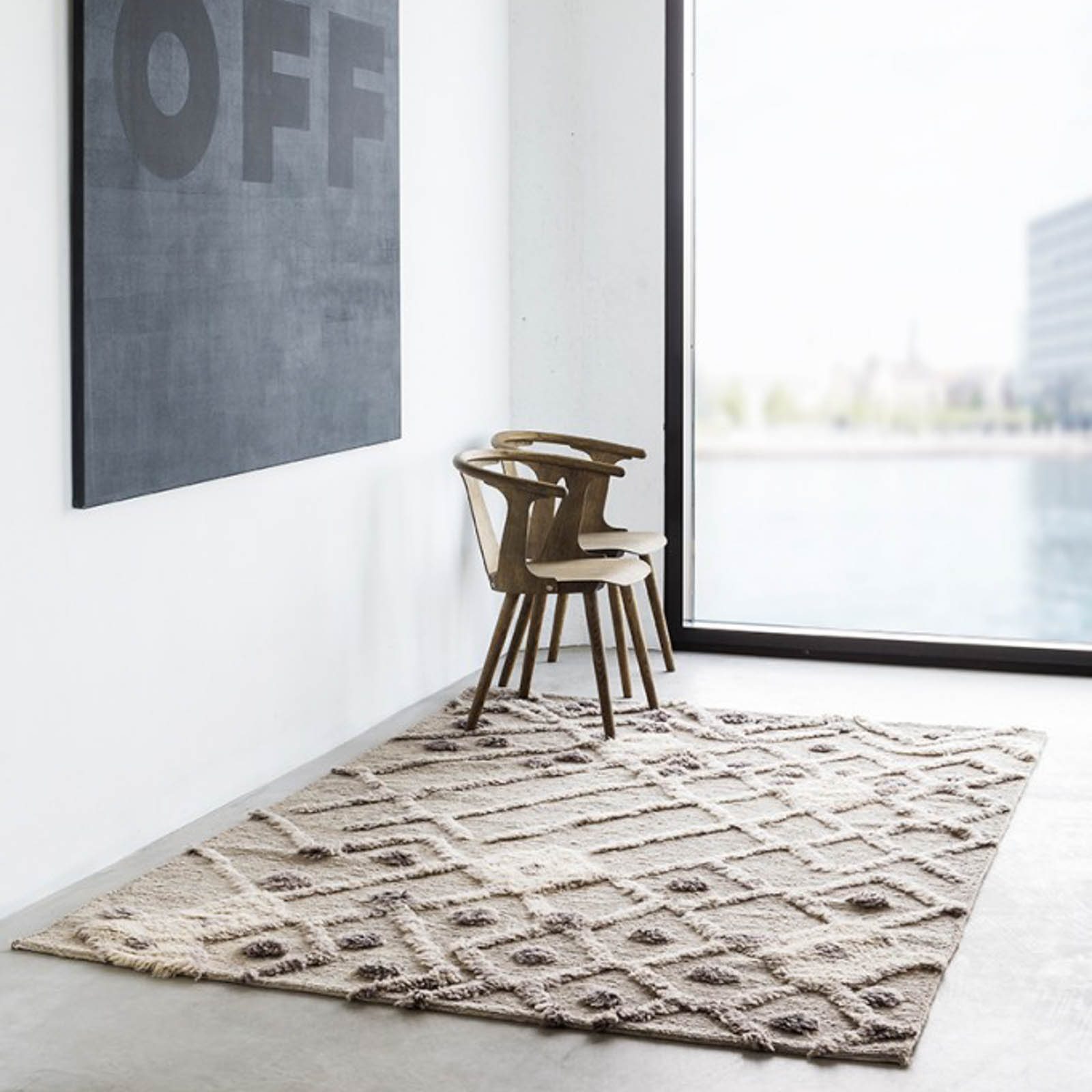 Bur-Bur Rugs in Natural by Massimo
