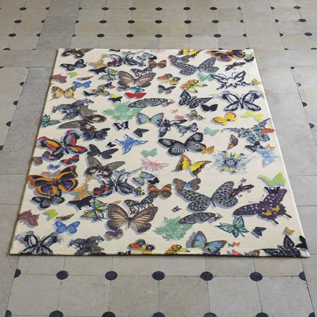 Butterfly Parade Opalin Rugs by Christian Lacroix