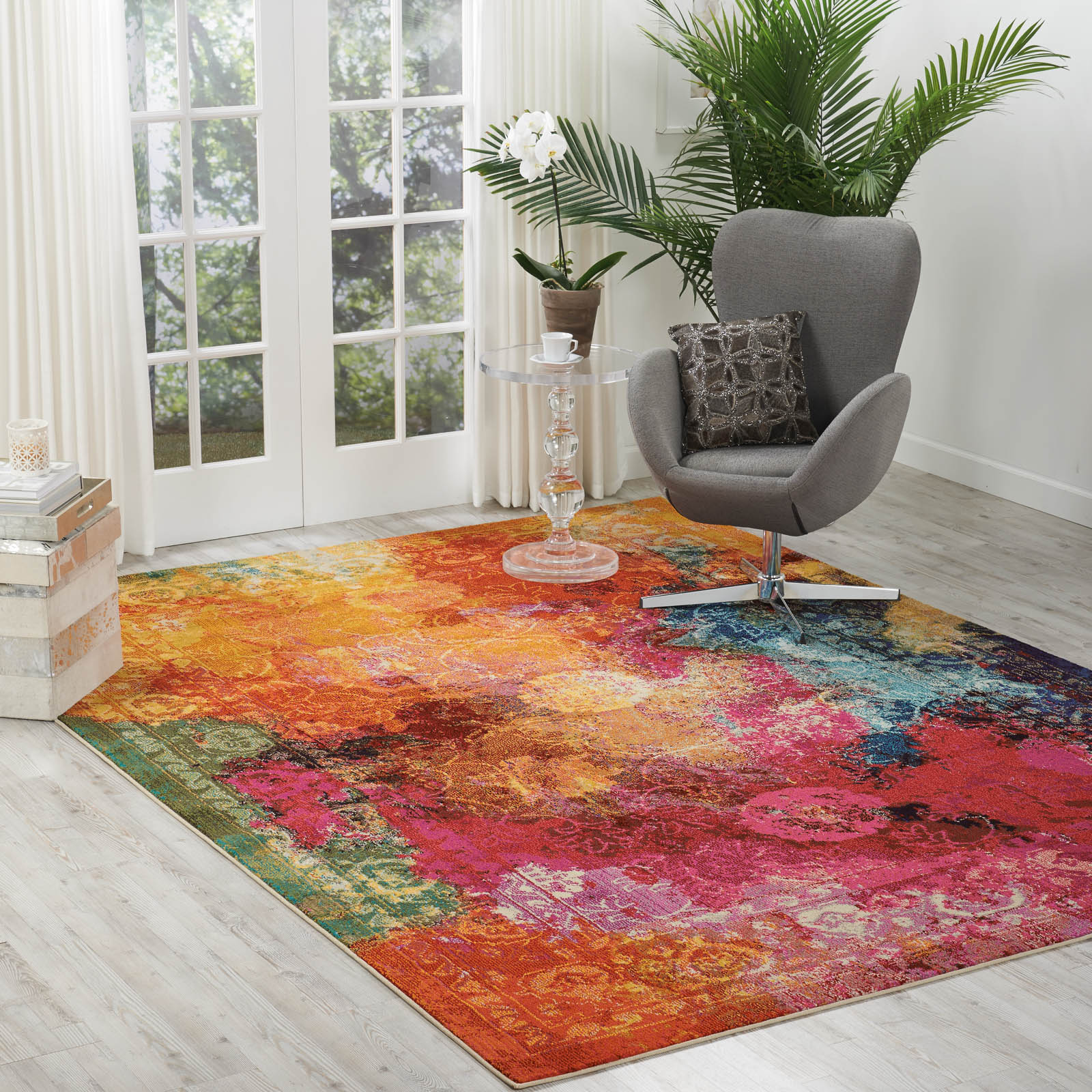 Celestial Rugs CES01 in Seaglass by Nourison