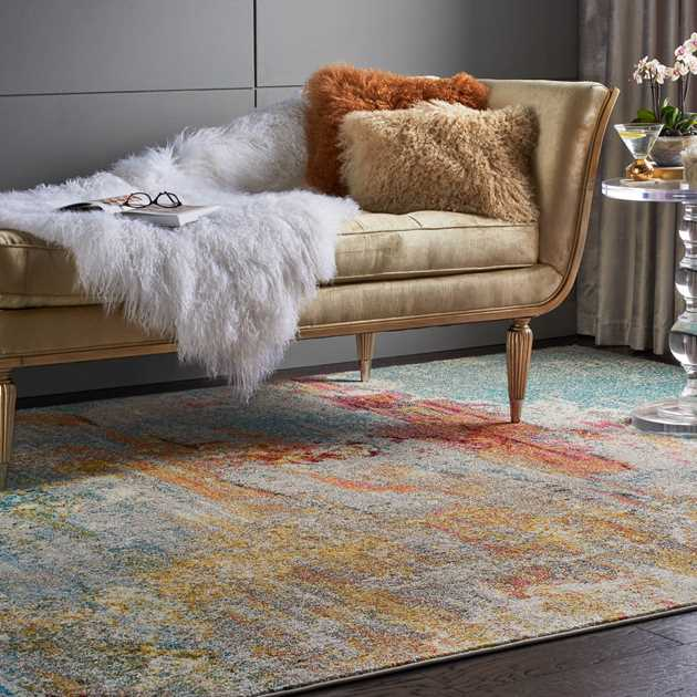 Celestial Rugs CES02 in Seaglass by Nourison