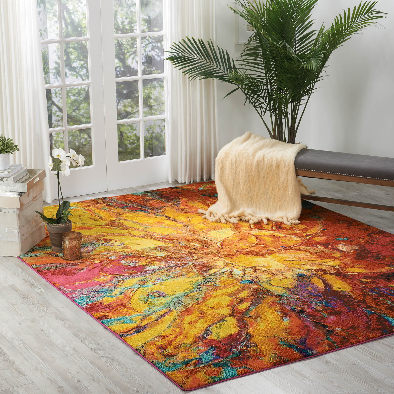 Celestial Rugs CES03 Cayenne by Nourison
