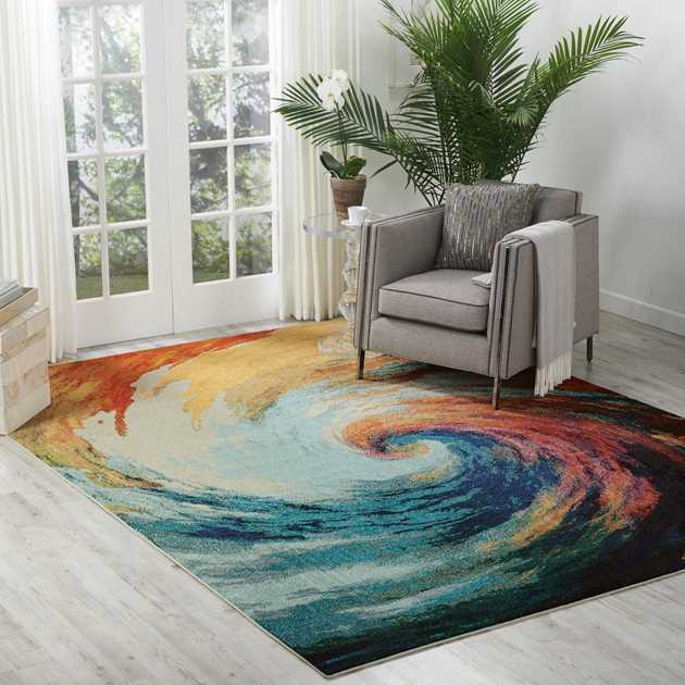 Celestial Rugs CES07 Wave by Nourison