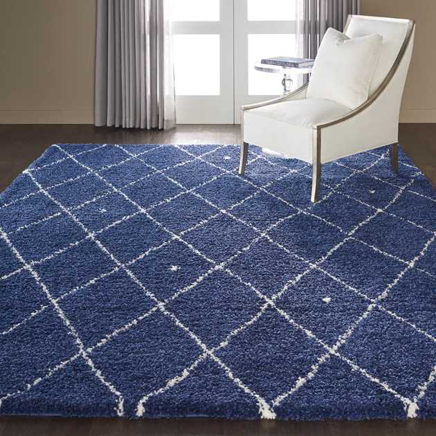 Calvin Klein Riad Rugs CKSH2 in Navy and Ivory