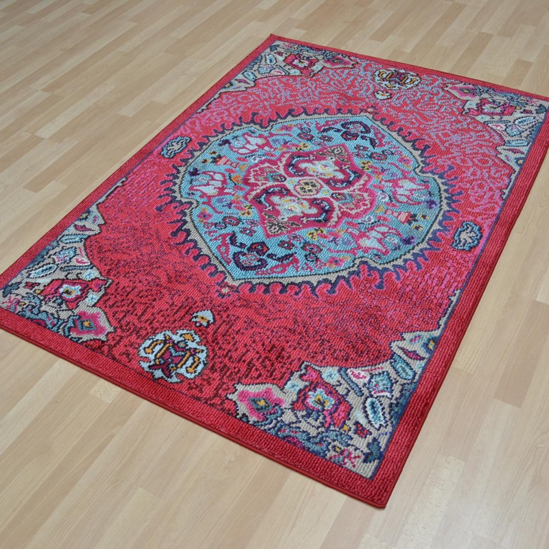 Colores Rugs COL05 Pink Buy Online From The Rug Seller Uk