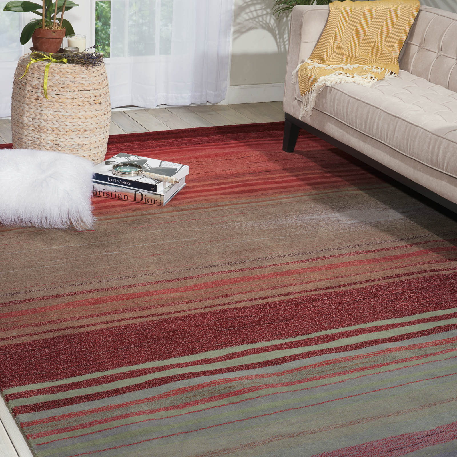Contour Rugs CON15 Flame by Nourison