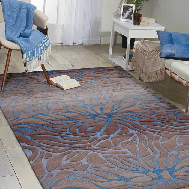 Contour Rugs CON25 in Ocean and Sand