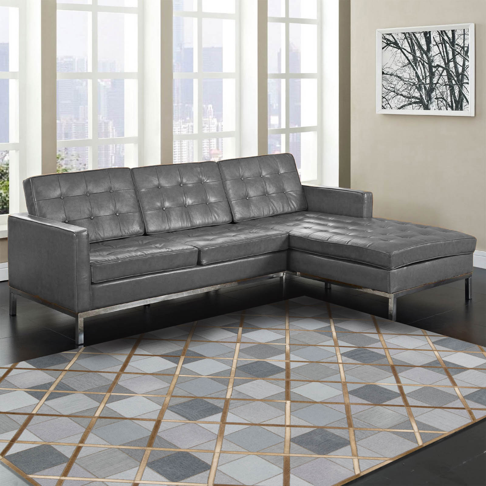 Cooper Rugs COP01 in Denim by Barclay Butera