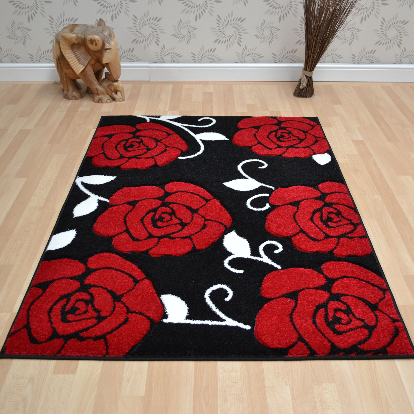 Couture Rugs COU01 Black Red