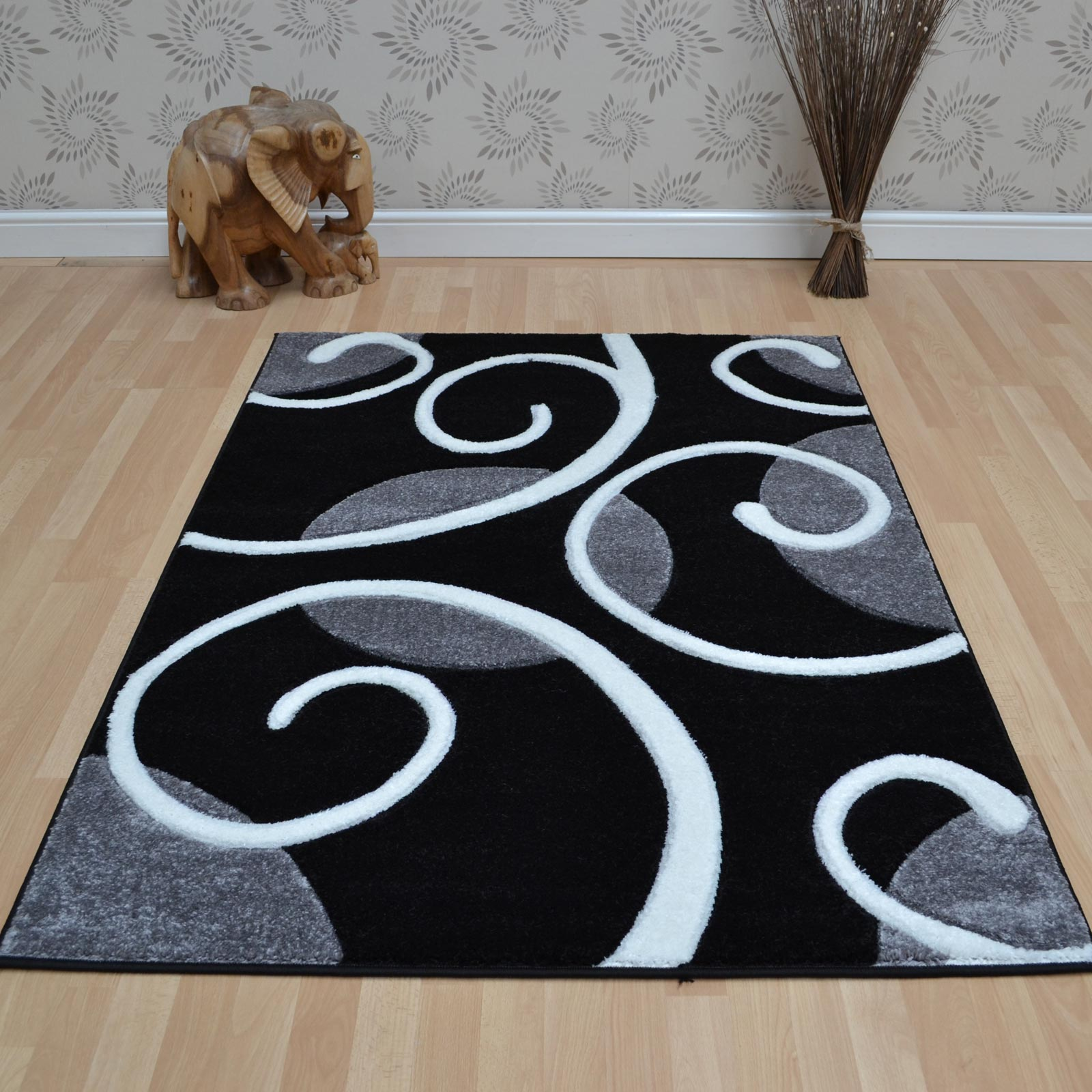 Couture Rugs COU06 Grey Black