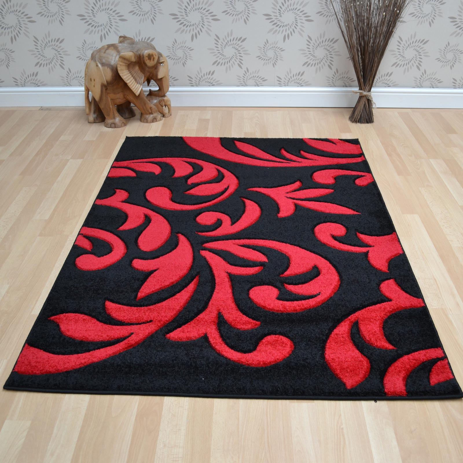 Couture Rugs COU09 Black Red