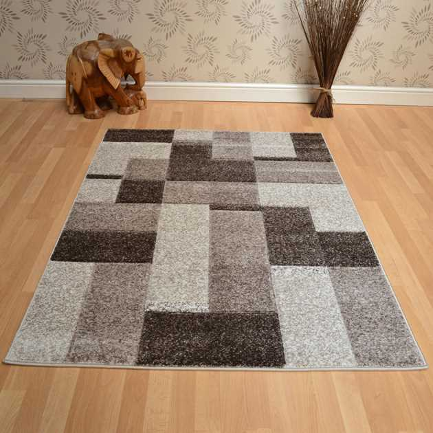 Couture Rugs COU14 Blocks Taupe