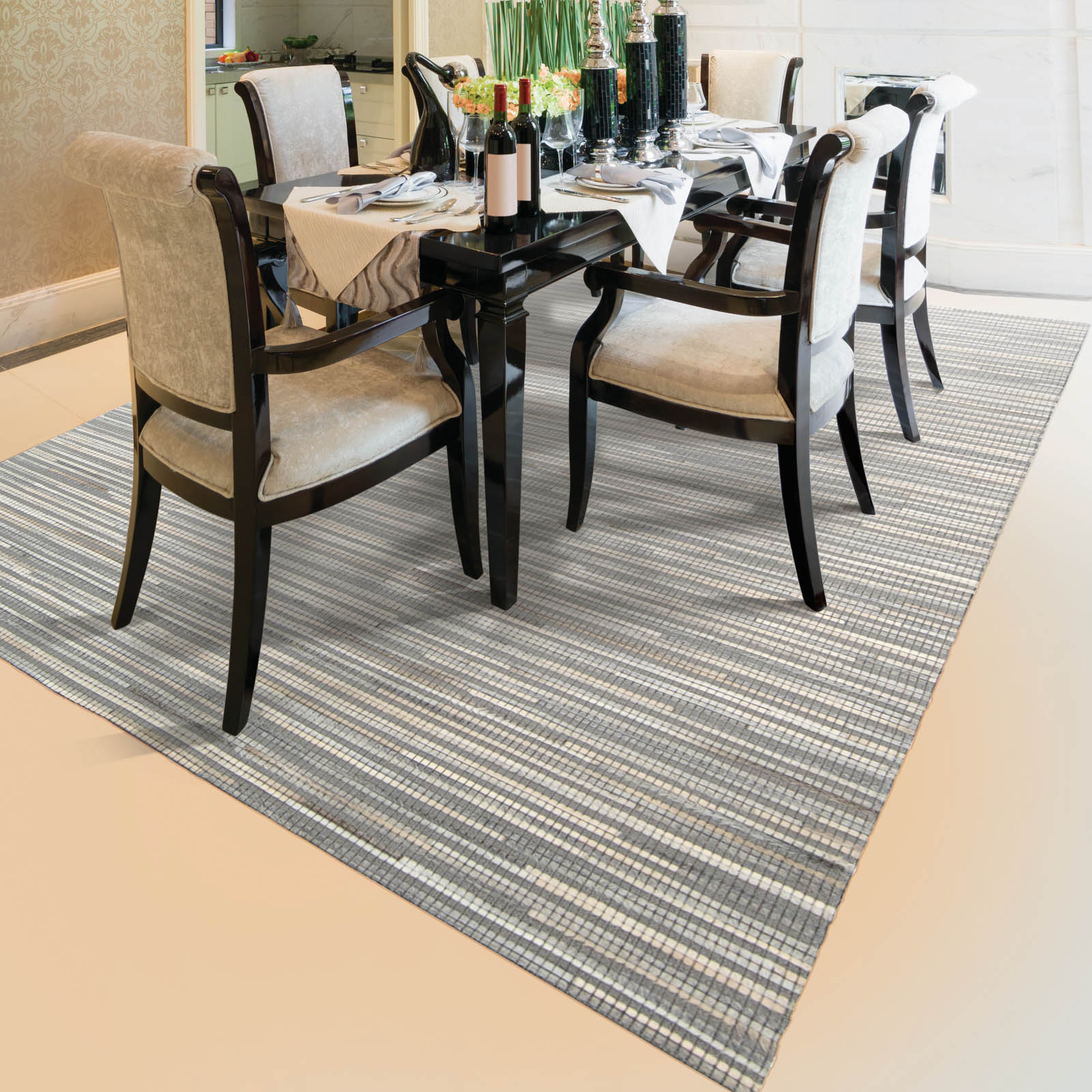 Capelle Rug CPEL1 in Silver
