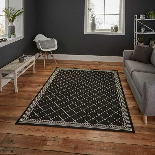 Cottage Rugs CT7643 in Black Wool