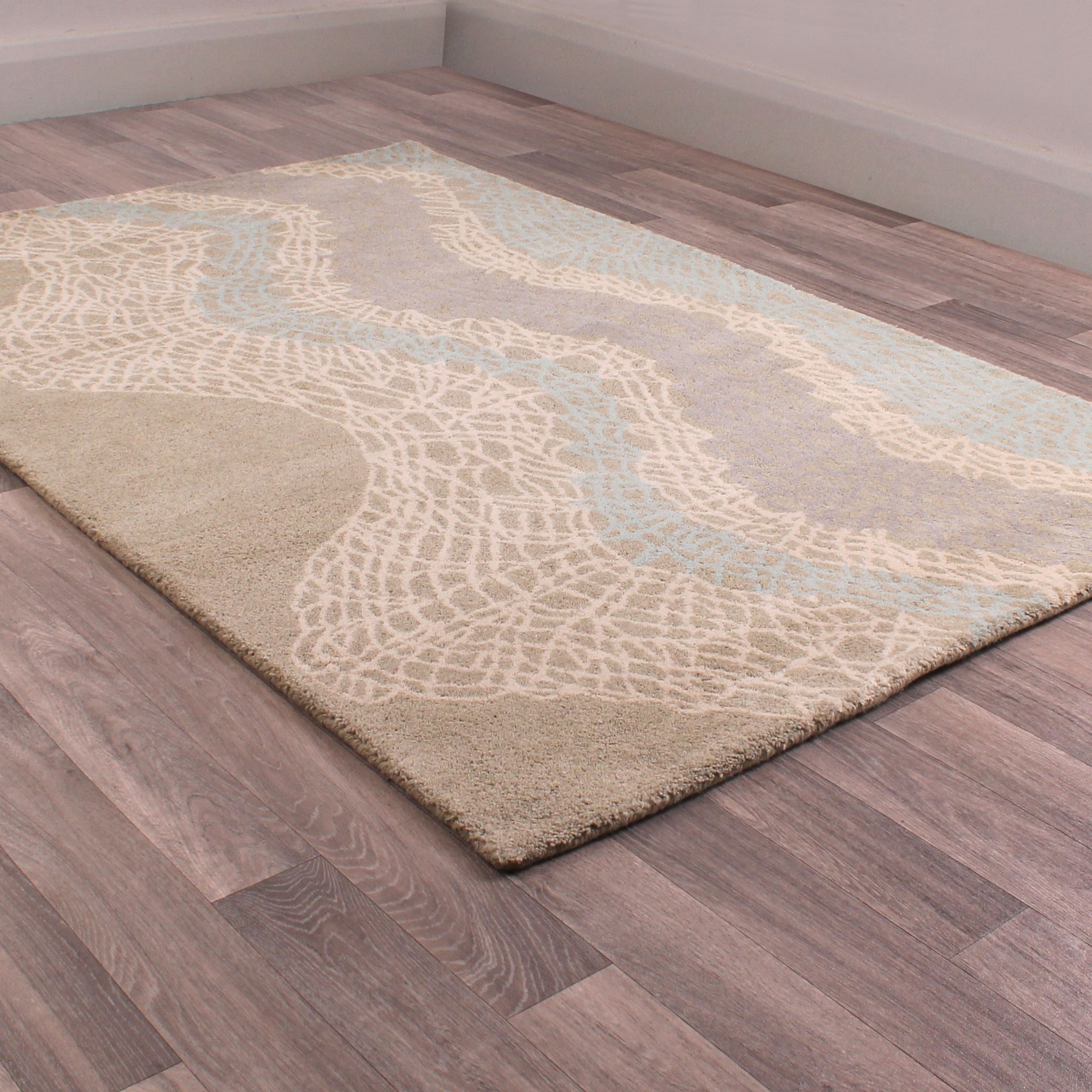 Fusion Campeche Rugs in Grey and Blue
