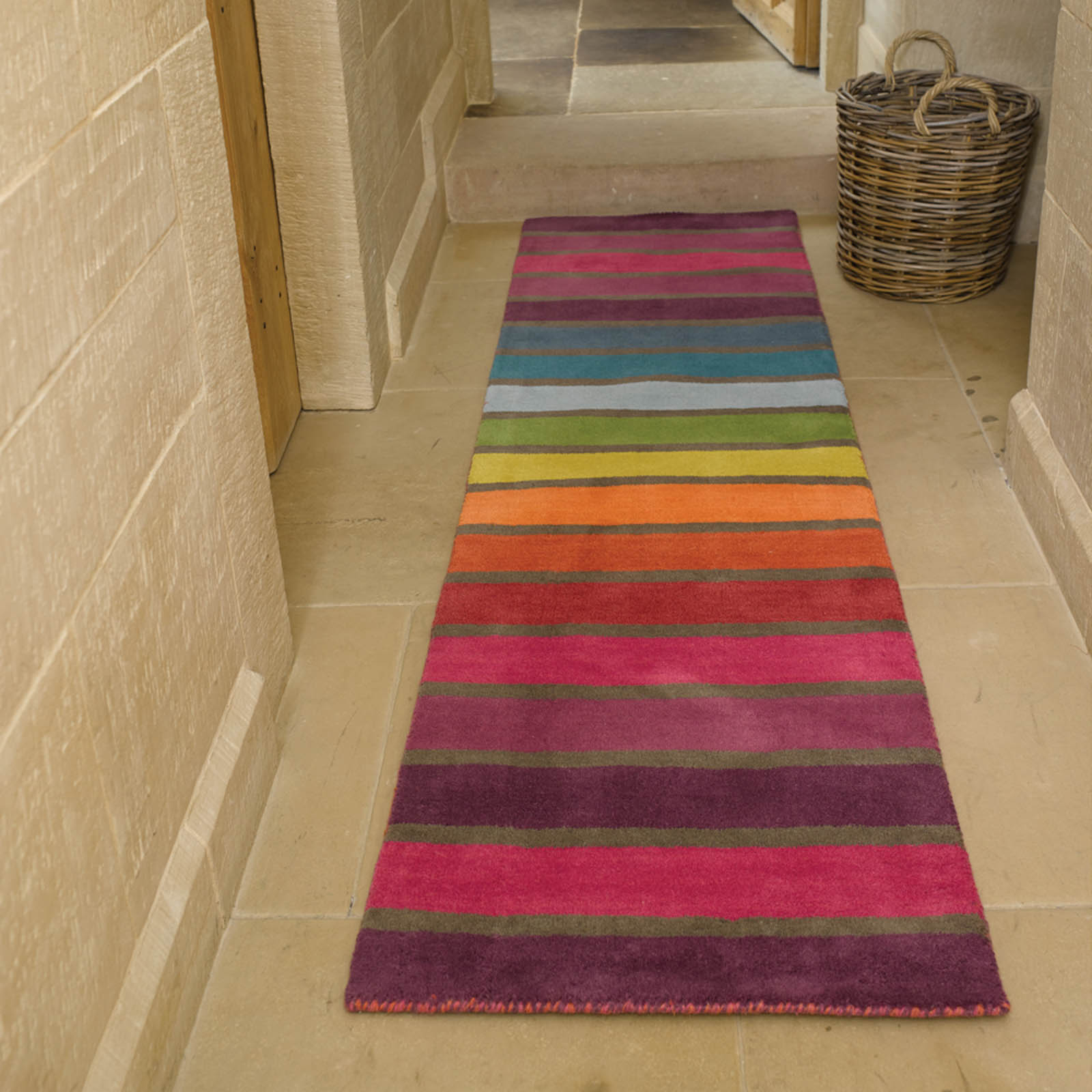 Runner Rugs Uk: Illusion Candy Hallway Runners
