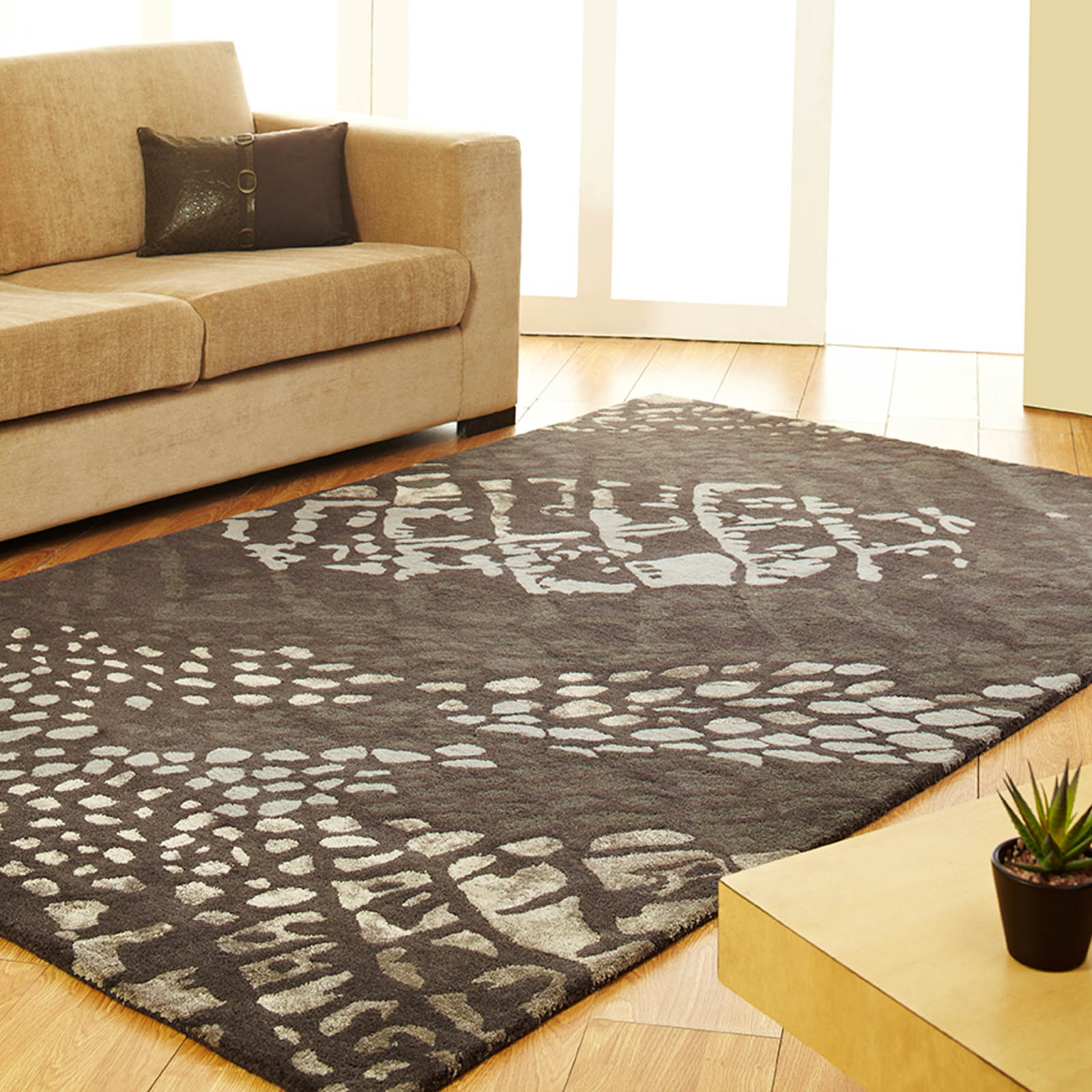 Unique Canyon rugs in Grey