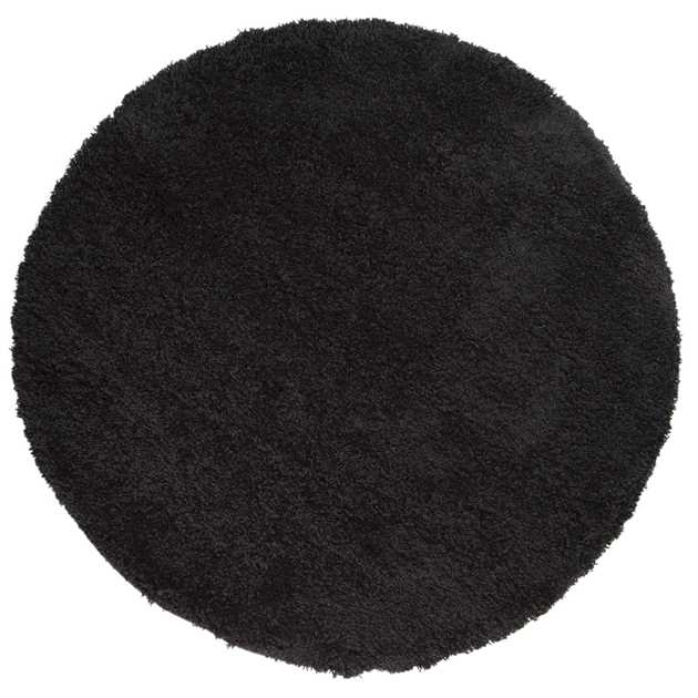 Cariboo Shaggy Circle Rugs in Black